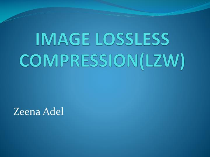 image lossless compression lzw n.