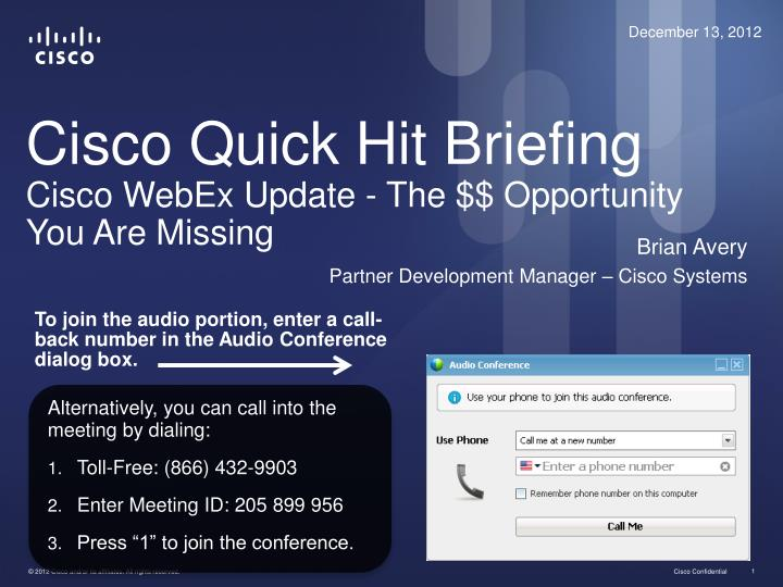 cisco quick hit briefing cisco webex update the opportunity you are missing n.