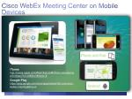 cisco webex meeting center on mobile devices