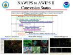 nawips to awips ii conversion status