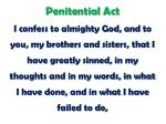 penitential act