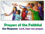 prayers of the faithful our response lord hear our prayer