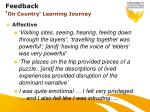 feedback on country learning journey