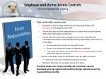 employee and visitor access controls foreign nationals cont