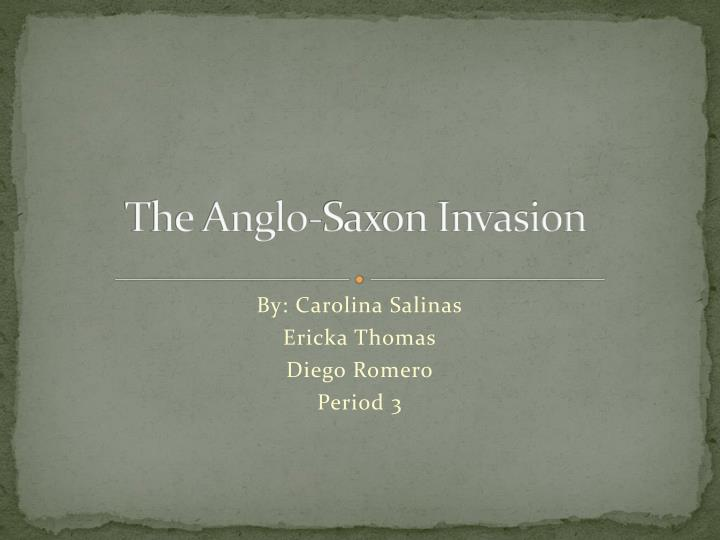 the anglo saxon invasion n.