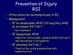 prevention of injury rsi