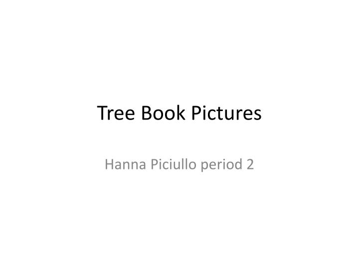 tree book pictures n.