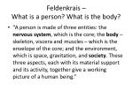 feldenkrais what is a person what is the body