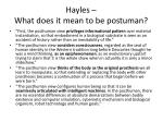 hayles what does it mean to be postuman