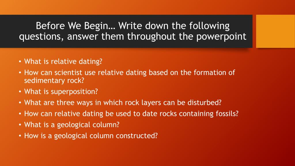 relative dating is based on