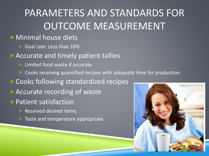 Parameters and standards for outcome measurement