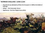 norman england 1066 1154