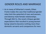 gender roles and marriage