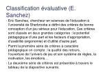 classification valuative e sanchez