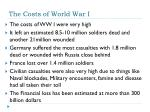 the costs of world war i