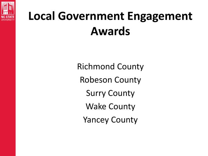 Local Government Engagement Awards