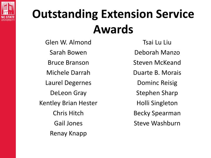 Outstanding Extension Service Awards
