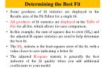 determining the best fit4