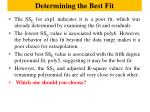 determining the best fit6
