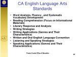 ca english language arts standards