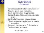 eld sdaie components