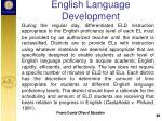english language development4