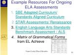 example resources for ongoing ela assessments