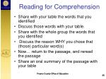 reading for comprehension1