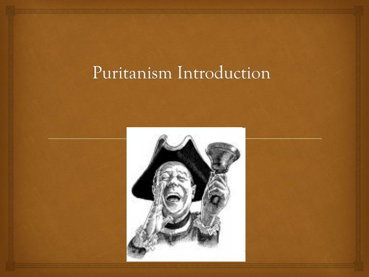 puritanism introduction n.