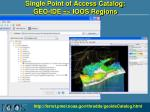 single point of access catalog geo ide ioos regions