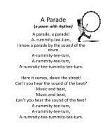 a parade a poem with rhythm