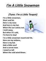 i m a little snowman