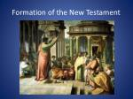 formation of the new testament