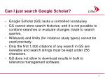 can i just search google scholar