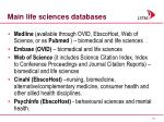 main life sciences databases