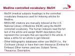 medline controlled vocabulary mesh