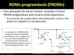 roms program veis proms