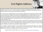civil rights address