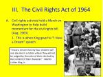 iii the civil rights act of 1964