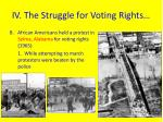 iv the struggle for voting rights1