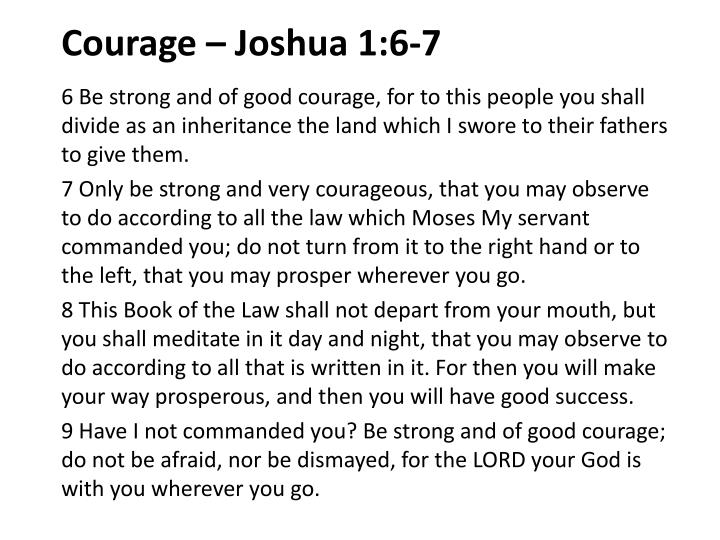 courage joshua 1 6 7 n.