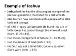 example of joshua