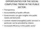 opportunities for the social computing trend in the public sector