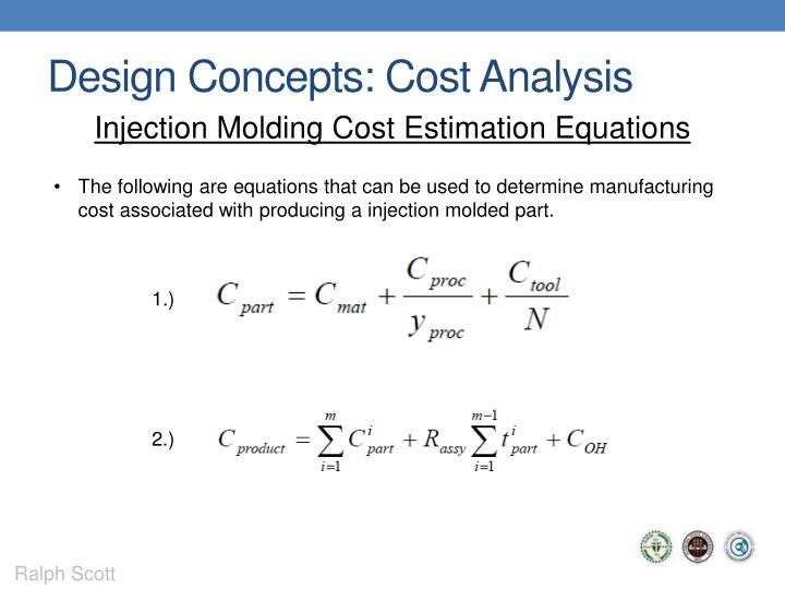 Design Concepts: Cost Analysis