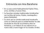 entrevista con ana barahona