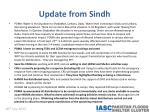 update from sindh