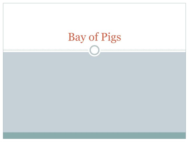 bay of pigs n.
