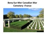 beny sur mer canadian war cemetery france