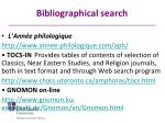 bibliographical search