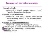 examples of correct references1